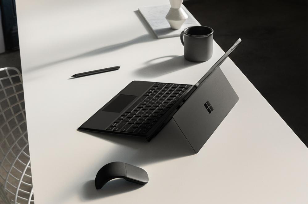 Surface Pro 6 sitting on a desk