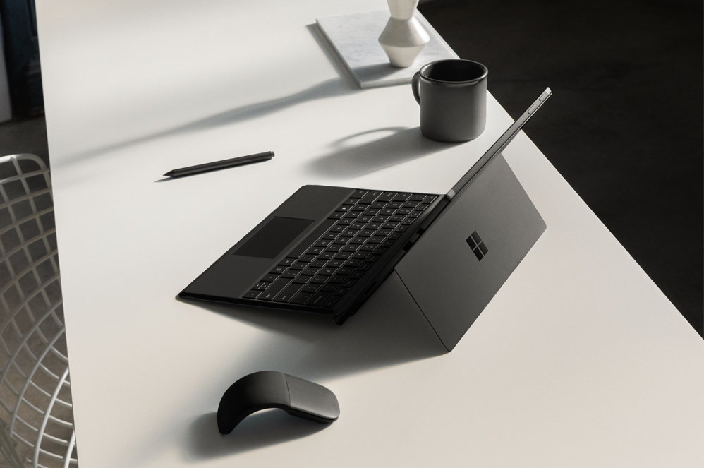 Surface Pro 6 sitting on a desk
