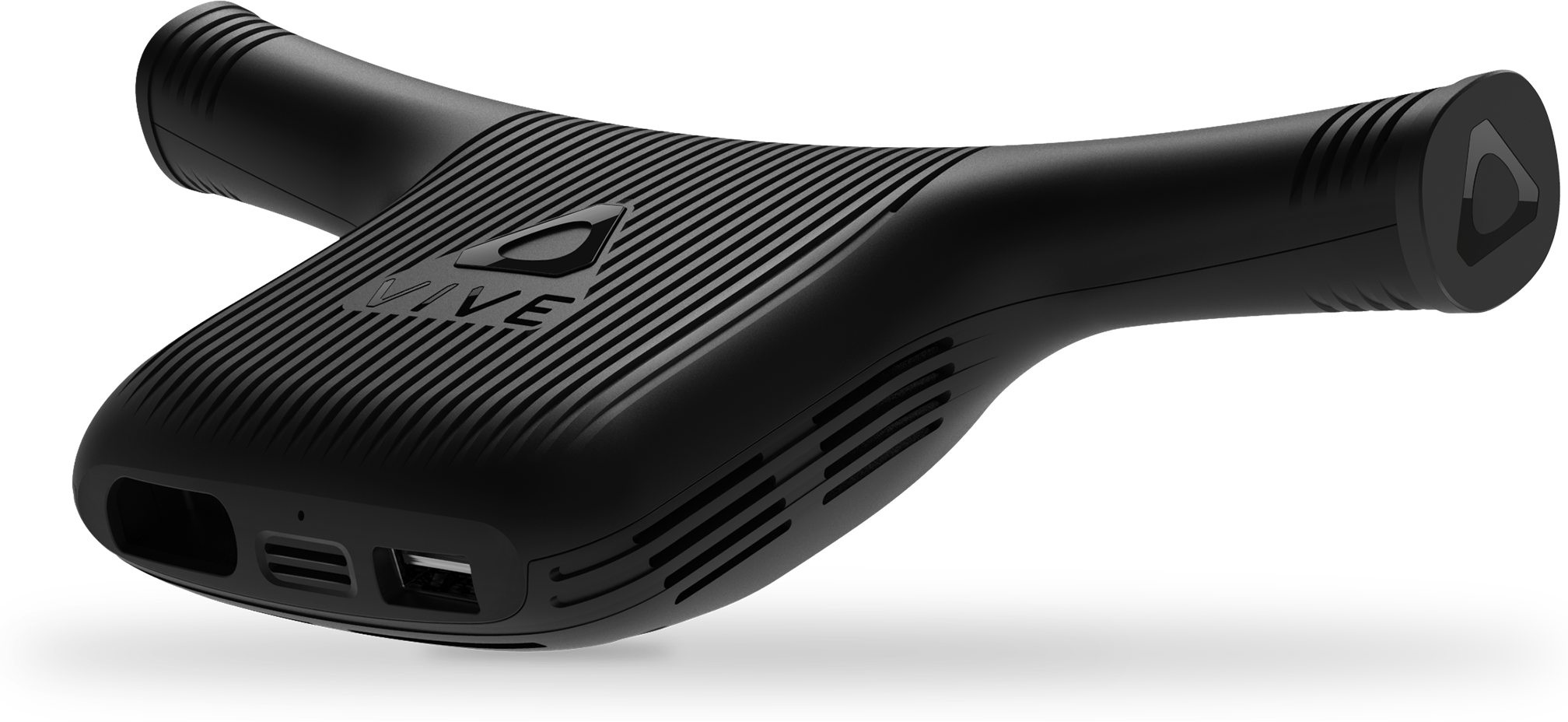 Front left view of the HTC Wireless Adapter for VIVE