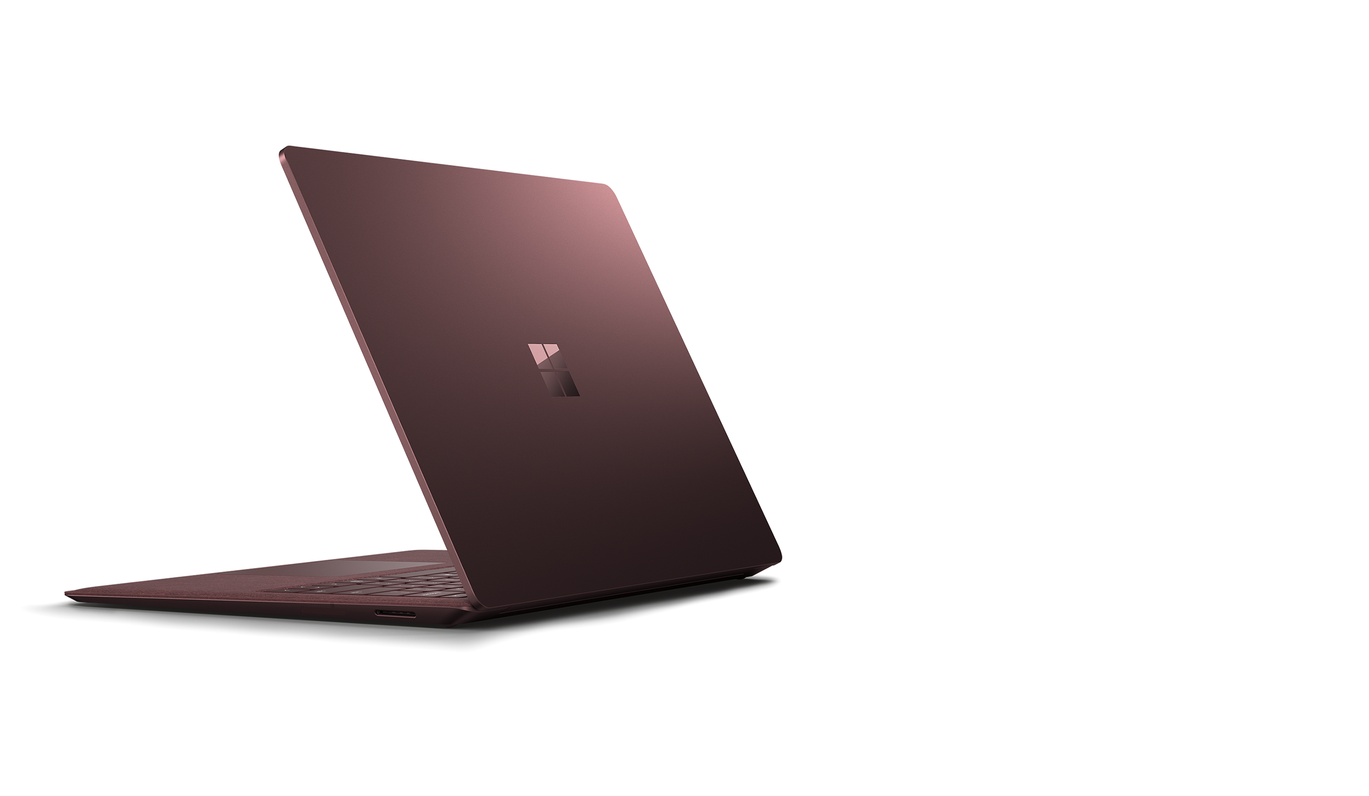 Geneigte Ansicht des Surface Laptop 2 von links