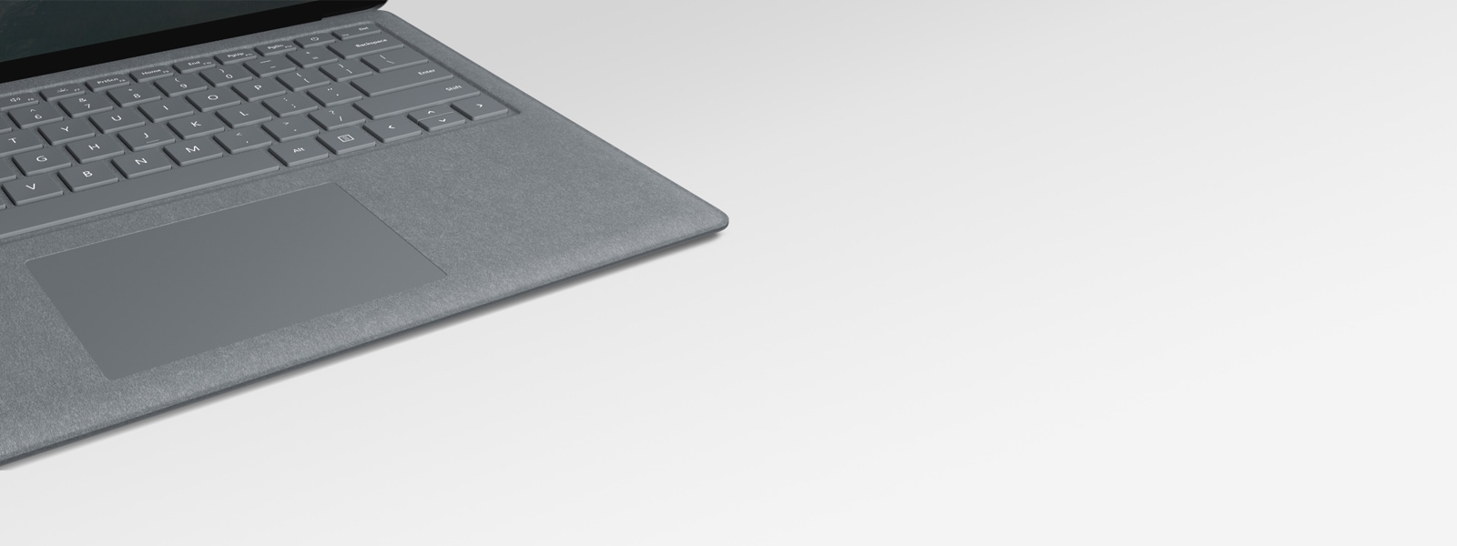 Tastiera e trackpad di un computer Surface Laptop 2