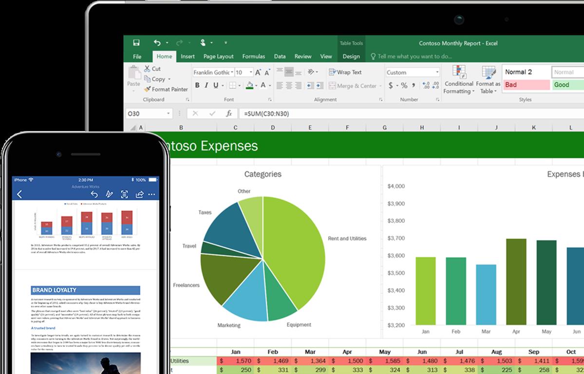 Excel Preview para Windows 10 para trabajar c modamente en todas partes