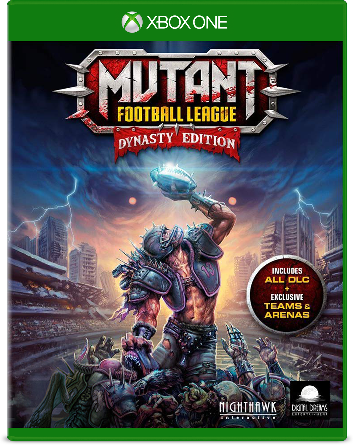 Cover of Mutant Football League Dynasty Edition for Xbox One