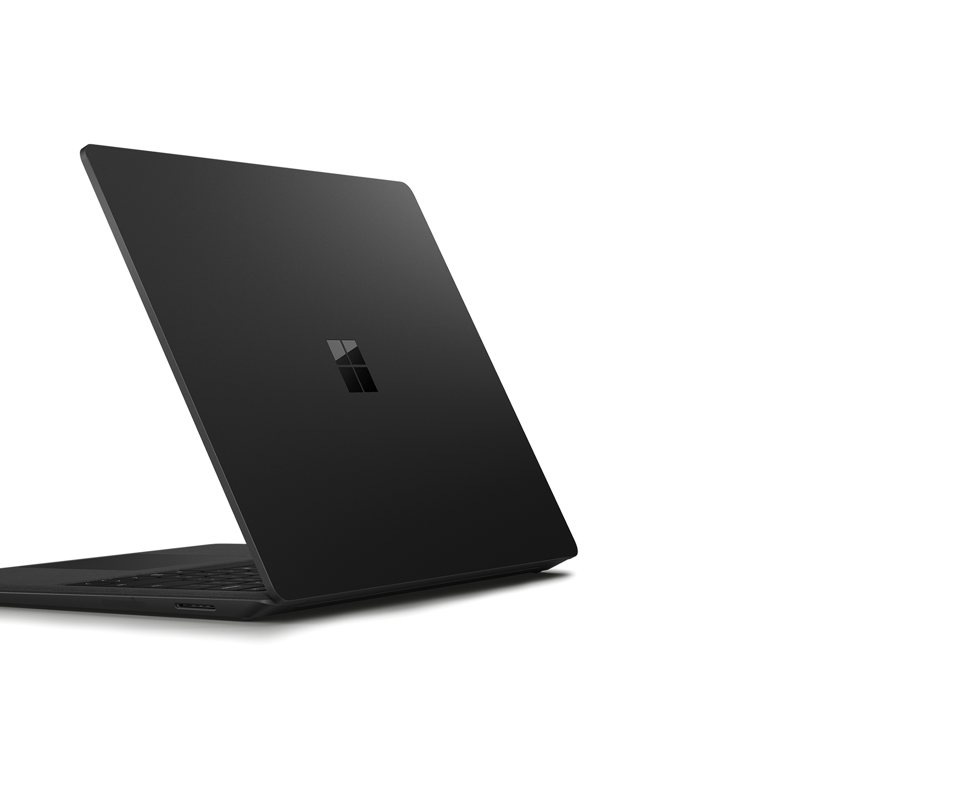 Geneigte Ansicht des Surface Laptops 2 von links