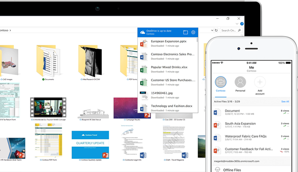 OneDrive for Business online file sharing and cloud backup