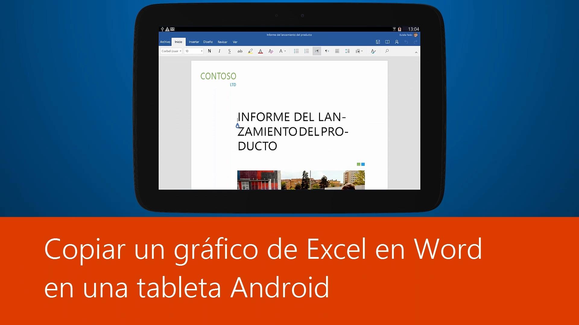 Vídeo: Copiar un gráfico de Excel en Word en una tableta Android ...