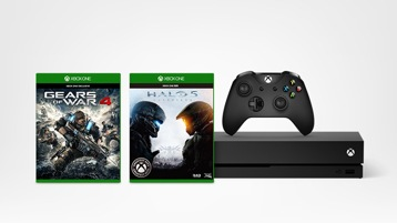 Xbox One X console and Xbox games