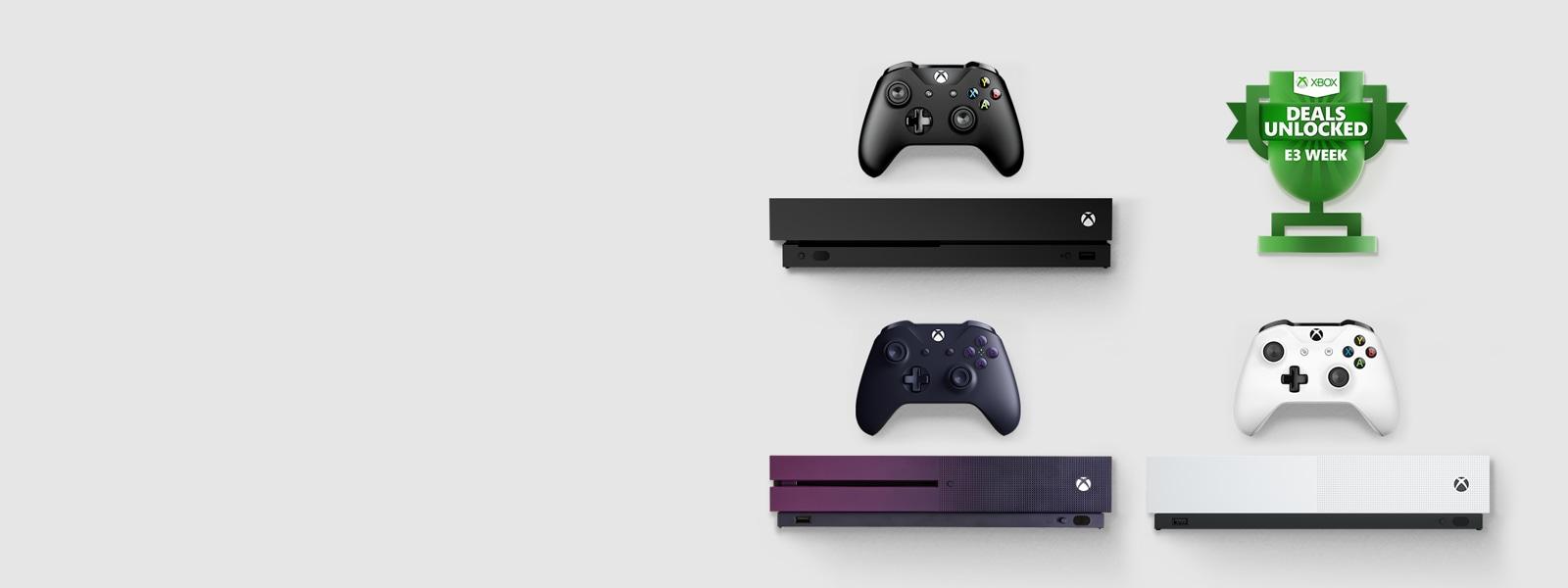E3, Xbox One Konsolen mit Controller