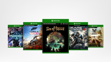 Crackdown 3, Forza Horizon 4, Sea of Thieves, Gears of War 4, State of Decay 2