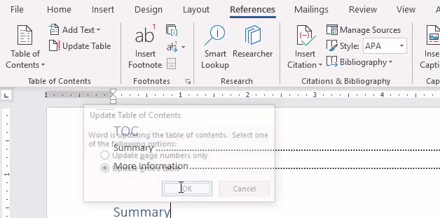 How To Use Style Separators With Heading Style To Generate A Toc In