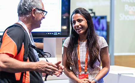 Man and woman at Microsoft Ignite