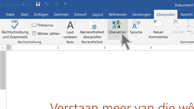 übersetzen Von Text In Eine Andere Sprache Office Support