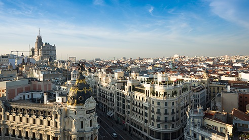 Skyline of Madrid