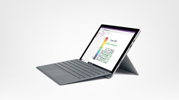 Surface Pro 6, Surface Pro Type Cover (Platinum)