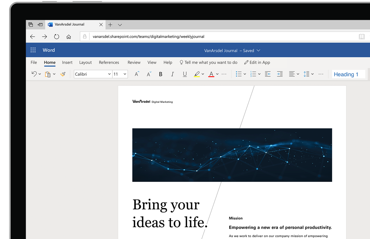 Free Microsoft Office For The Web Word Excel Powerpoint
