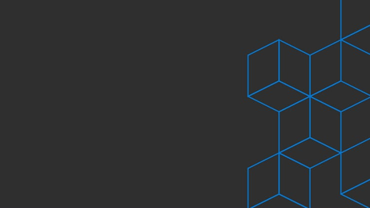 Microsoft Ignite The Tour graphic of 3-dimensional line drawings of connected cubes on a black background