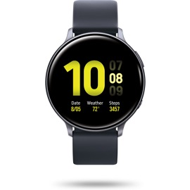 front view of the Samsung Galaxy watch Active 2 44mm black