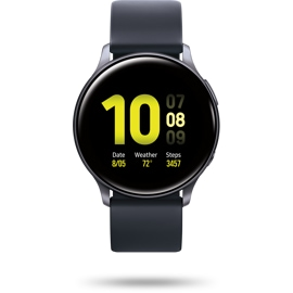 Front view of the Samsung Galaxy watch Active 2 40mm black