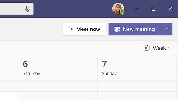 New Meeting screen capture