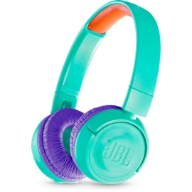 Right front view of JBL JR300 BT in Teal