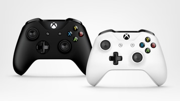 Black and White Xbox Wireless Controllers