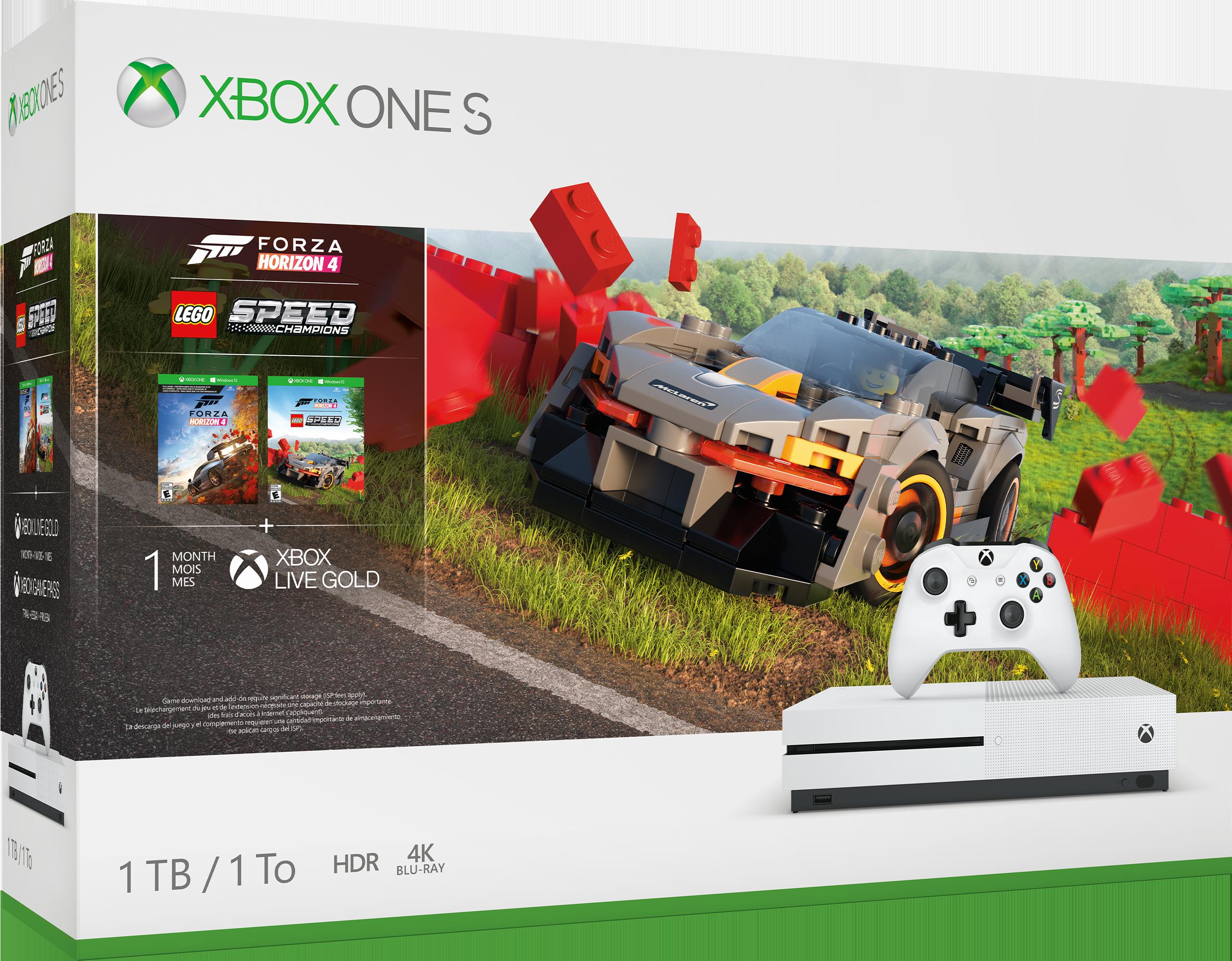 Image of Console Xbox One S da 1TB - Bundle Forza Horizon 4 LEGO® Speed Champions per Xbox One S (1TB)