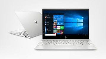 Front and rear angled views of HP Envy 13