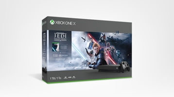 Xbox One X Star Wars Jedi: Fallen Order bundle box art