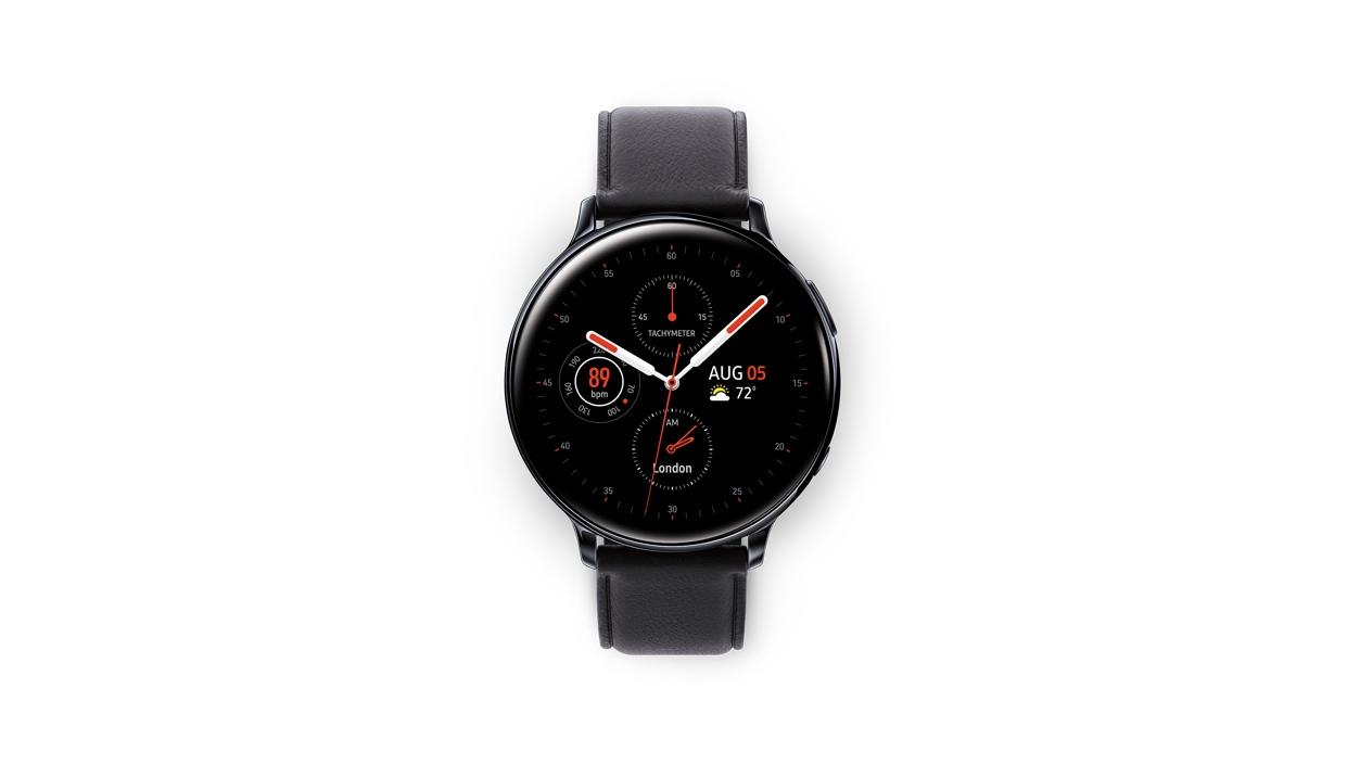 Galaxy Watch Active 2 40mm in black front view