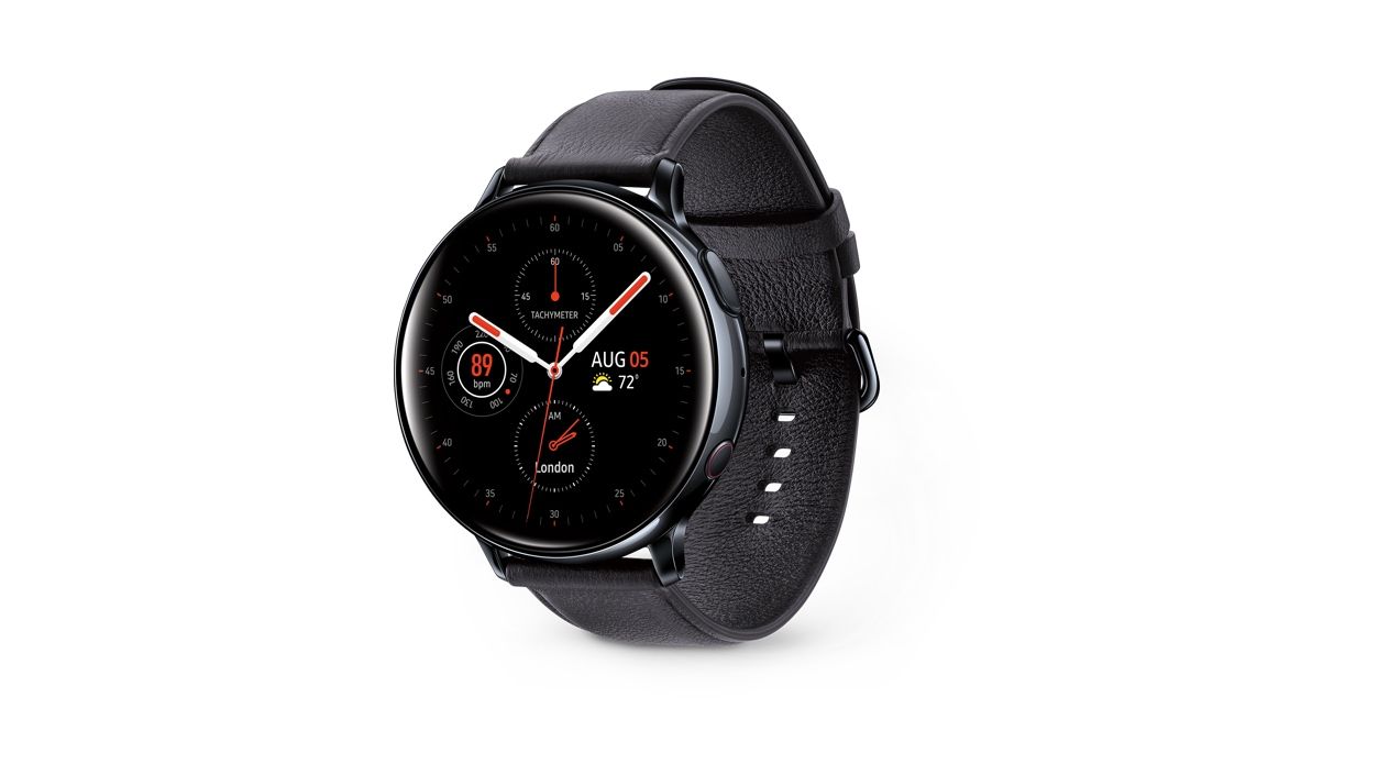 Galaxy Watch Active 2 44mm in black facing right