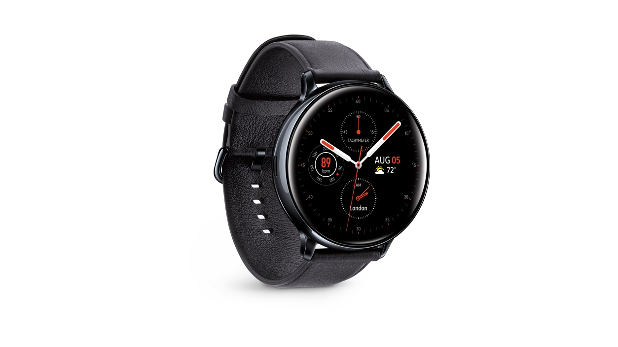 Galaxy Watch Active 2 40mm black right angle
