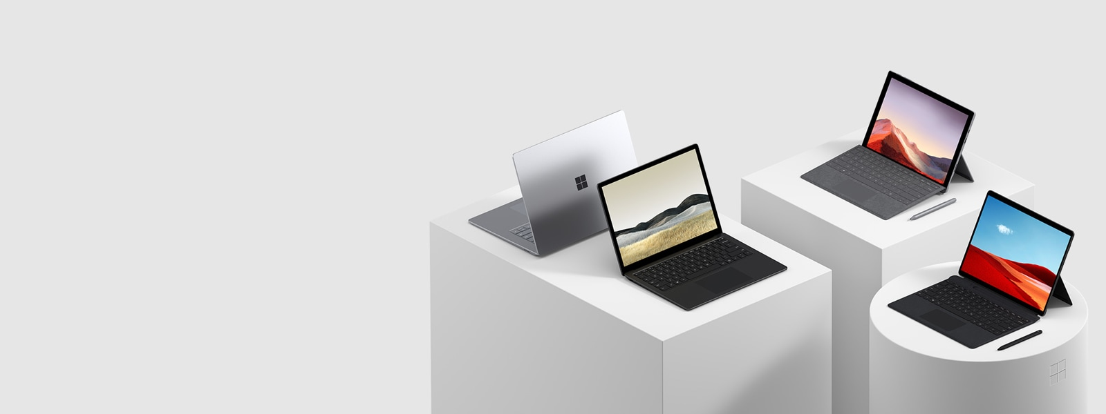 Surface Pro 7 + Surface Pro X + Surface Laptop 3
