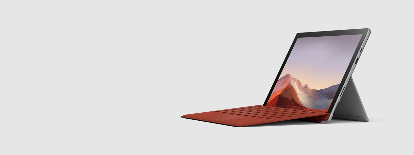 Ordinateur hybride Surface Pro 7 avec son clavier Type Cover
