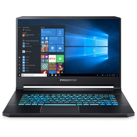 Acer Predator Triton 500 laptop from the front with Windows on screen