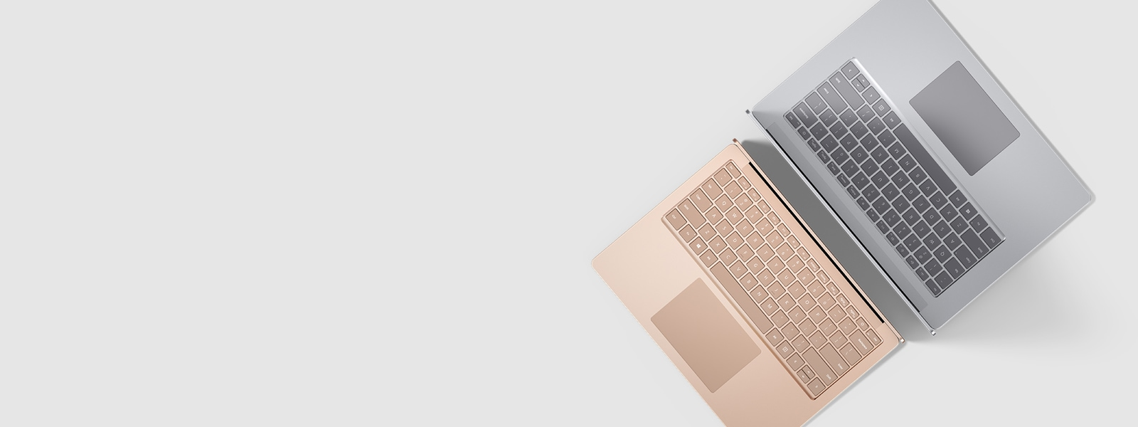 The new Surface Laptop 3 back to back
