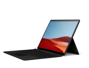 återgivning av Surface Pro X med Type Cover