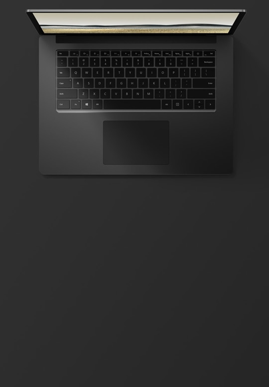 "15"" Surface Laptop 3 in Matte Black with a metal finish"