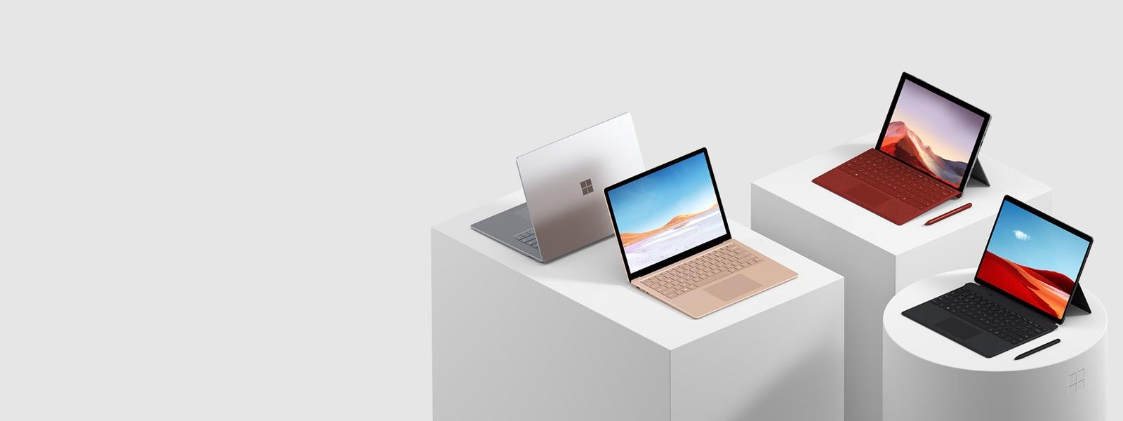 Une image des tablettes et ordinateurs Surface.