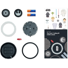 Top down view of the Kano The Force Coding Kit parts