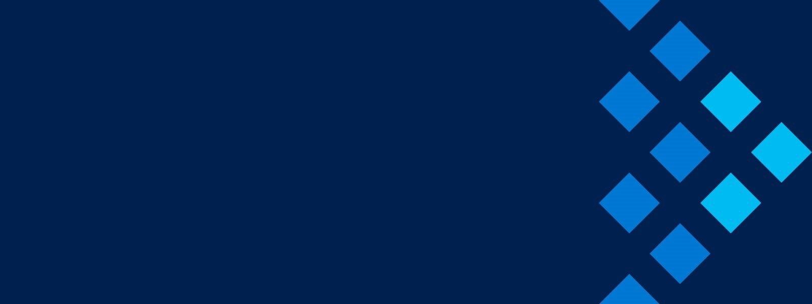 Blauer Hintergrund mit einem Pfeil nach rechts