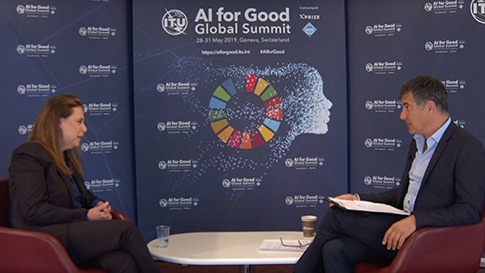 An interview at the AI for Good Global Summit