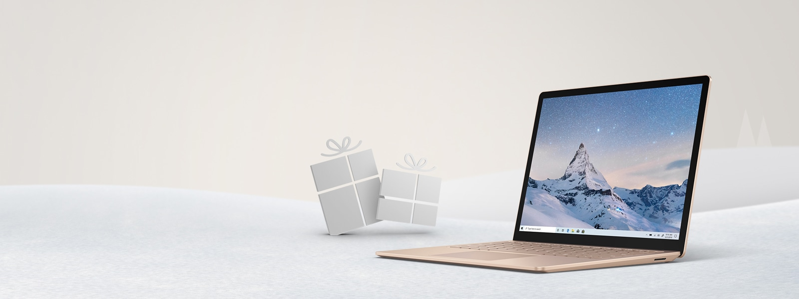 A sandstone Surface Laptop 3