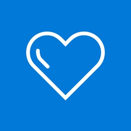 Heart icon on blue background