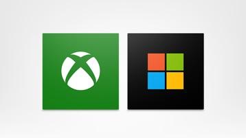 Logo Xbox e logo Microsoft