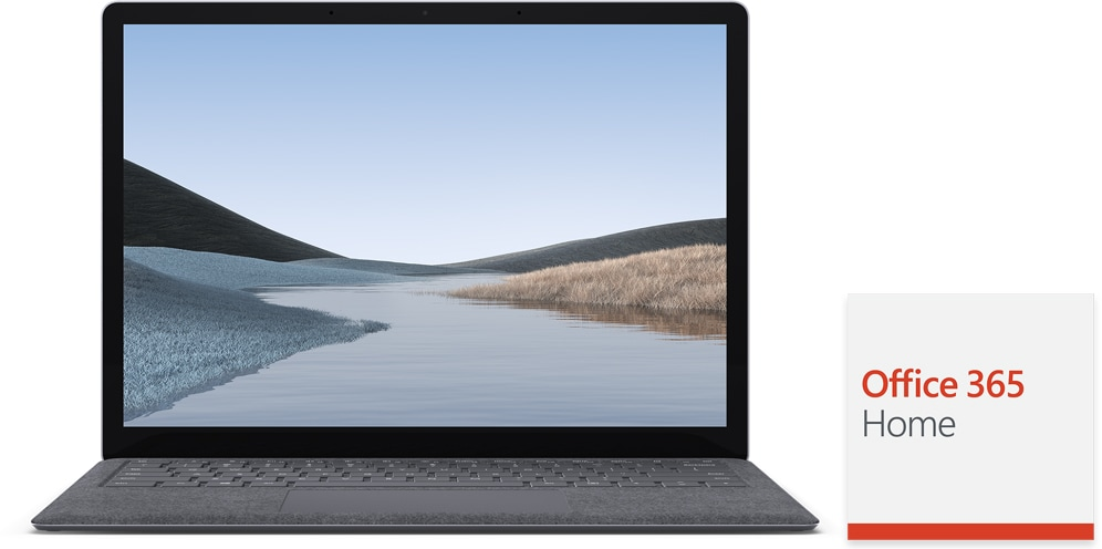 Surface Laptop 3 and Office 365 tile