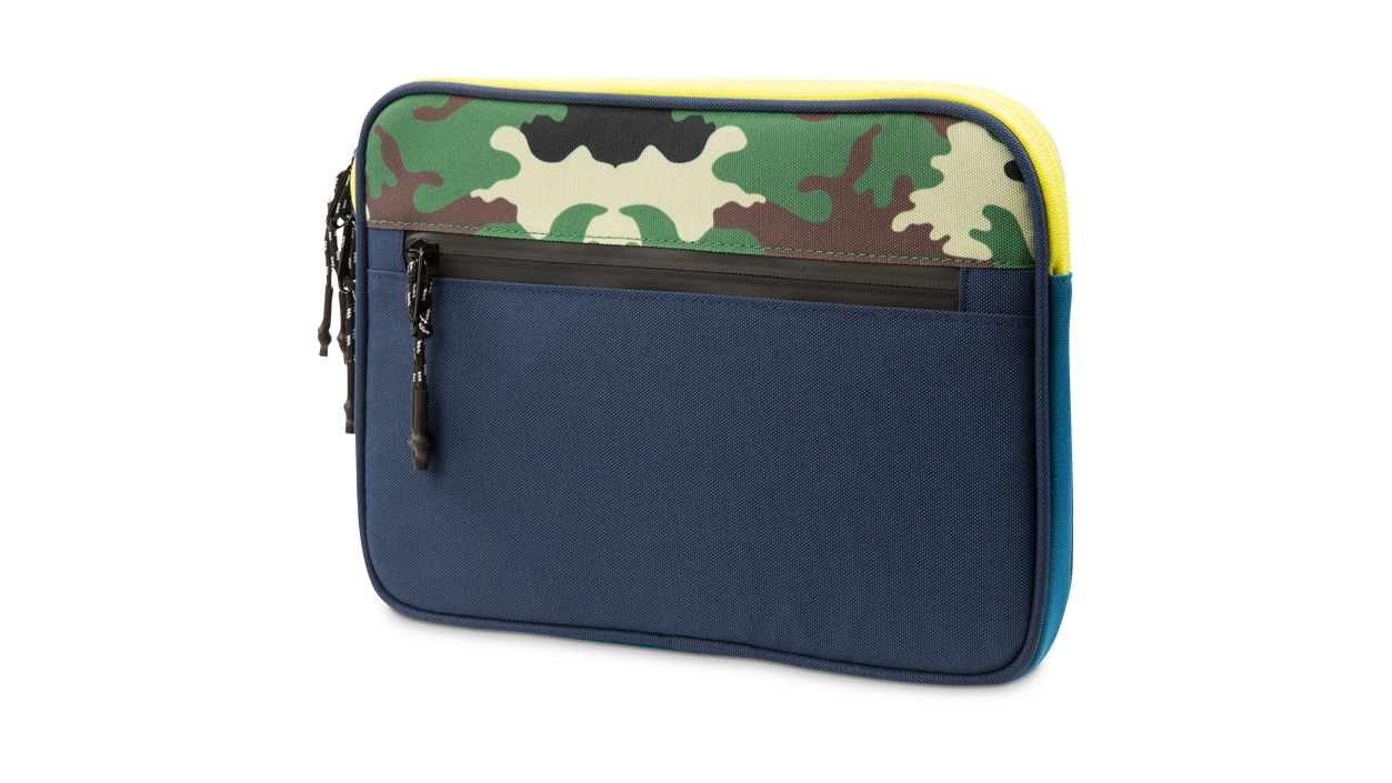 Rear view of HEX Surface Go Sleeve in Camo/Blue