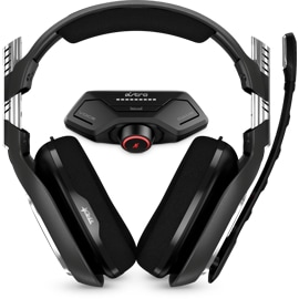 Front view of the Astro Gaming A40TR Headset + MixAmp M80 for Xbox One