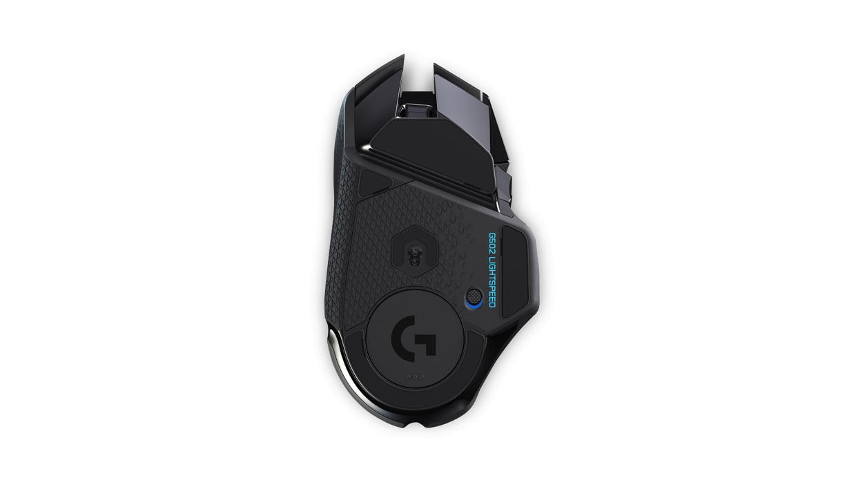 Bottom view of Logitech wireless mouse