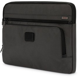 """Left front view of Tumi Sleeve for Surface Book & Surface Laptop 13.5"""" - Ballistic Nylon Pewter"""