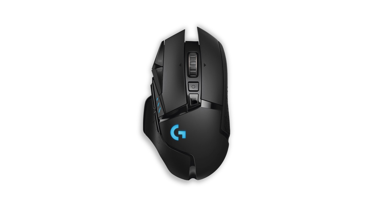 Top view of Logitech wireless mouse.